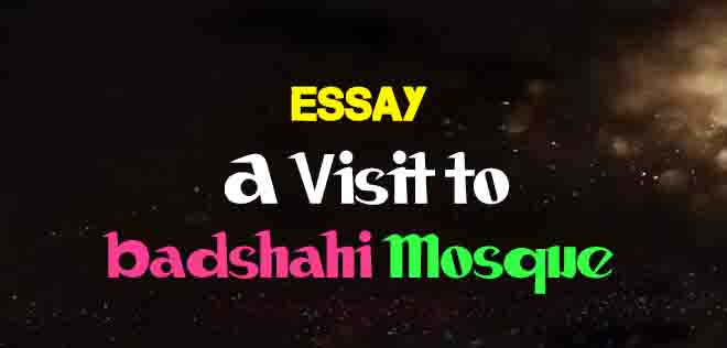 Essay On A Visit To Badshahi Mosque  The College Study