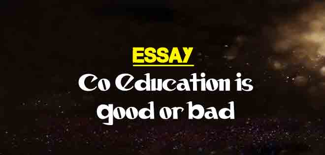 Co education essay