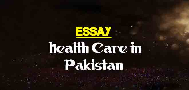 Essay On Health Care In Pakistan  The College Study